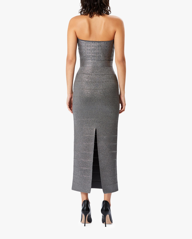 Herve Leger Mockneck Icon Dress 2