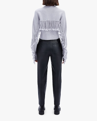 Jonathan Simkhai Tessa Vegan Leather Tie-Waist Pants 2