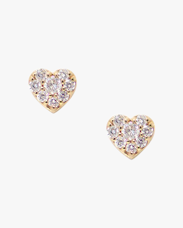 Jac + Jo Diamond Micro Heart Stud Earrings 1