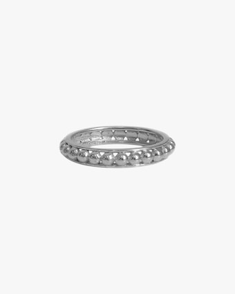 Jac + Jo Silver Dotted Band 2