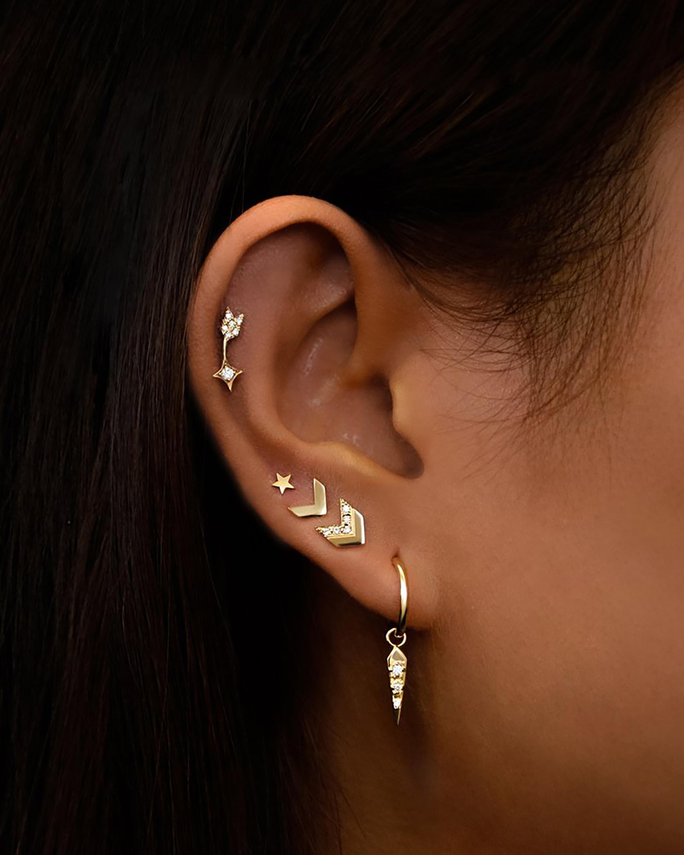 Jac + Jo Diamond Arrow Tail Stud Earrings 2