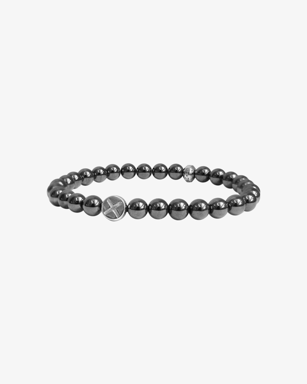 Jac + Jo X Bolt Charm Hematite Beaded Bracelet 2