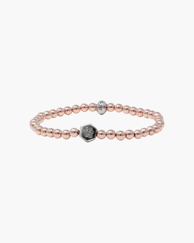 Jac + Jo Paw Charm Hematite Beaded Bracelet 2