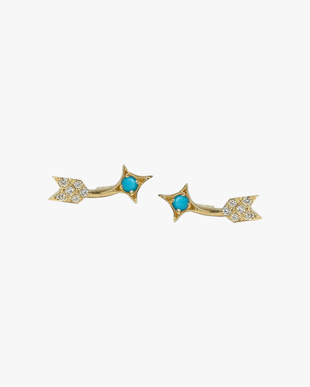 Jac + Jo Diamond & Turquoise Arrow Crawlers 1