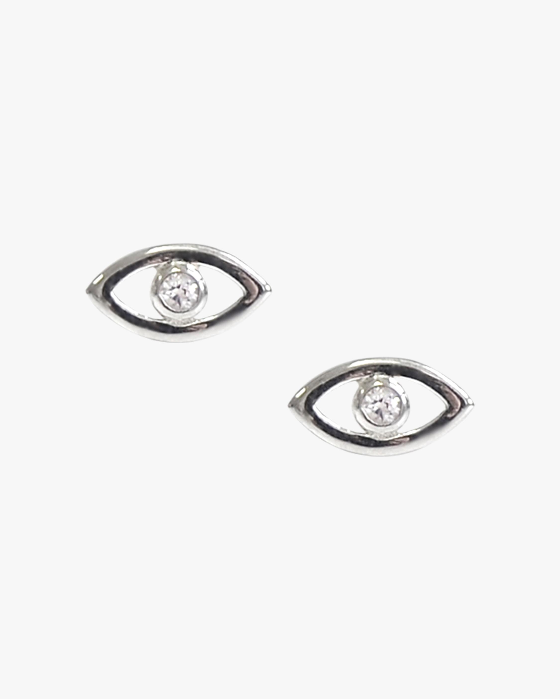 Jac + Jo Diamond Evil Eye Stud Earrings 1