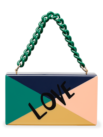 Love Color Block Jean Clutch