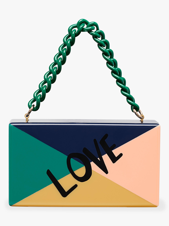 Love Color Block Jean Clutch