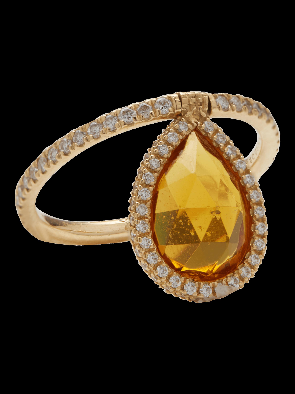 Citrine Flip Ring