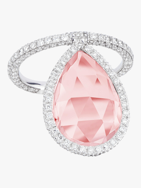 Rose Quartz Flip Ring