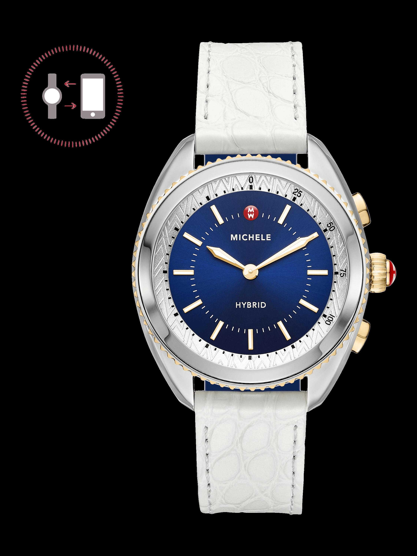 White Hybrid Smartwatch