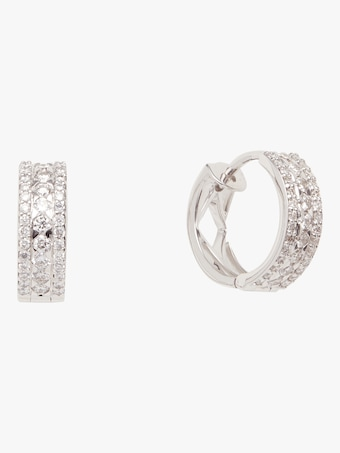 Diamond Rondel Huggie Earrings