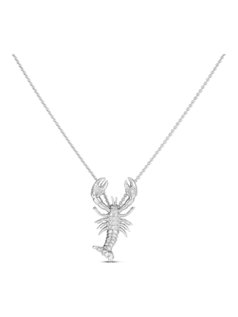 Diamond Lobster Pendant Necklace