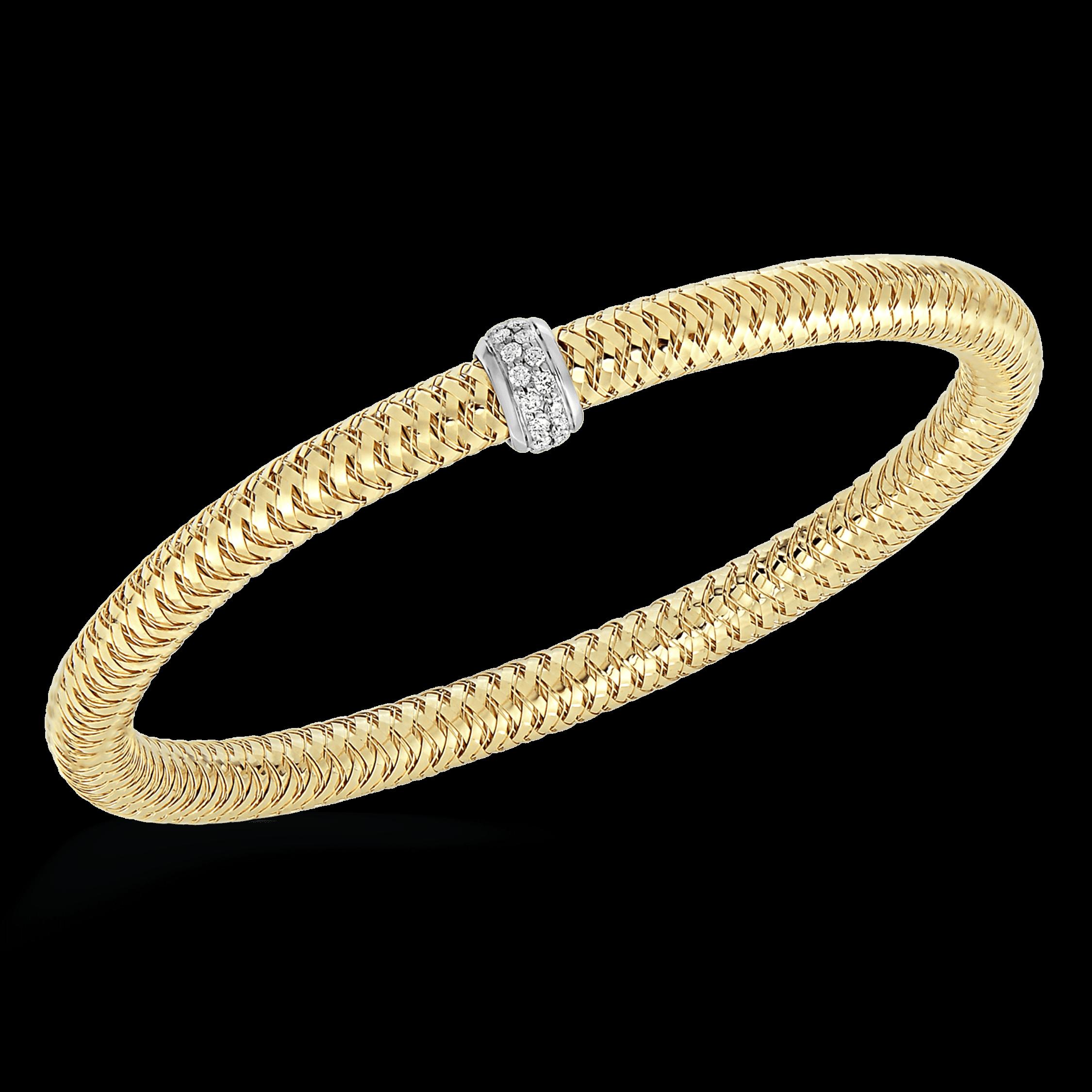 Roberto Coin Primavera Diamond Woven Bangle Bracelet 0