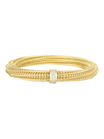 Primavera Diamond Woven Bangle Bracelet