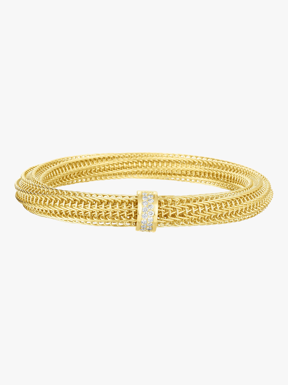 Primavera Diamond Woven Bangle Bracelet