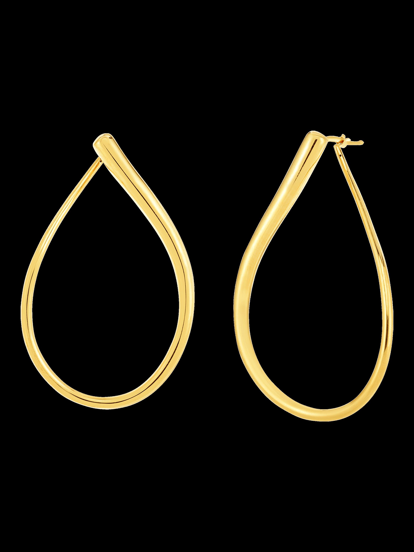Roberto Coin Gold Teardrop Earrings 1
