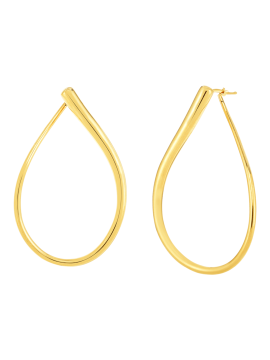 Roberto Coin Gold Teardrop Earrings 0
