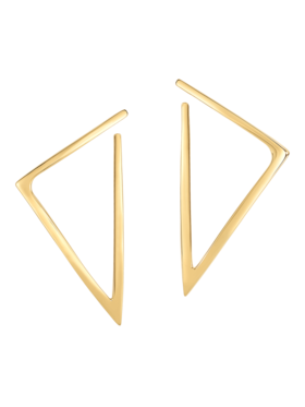 Gold Triangle Hoop Earrings