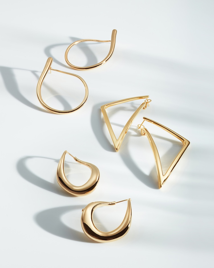 Gold Triangle Hoop Earrings Roberto Coin