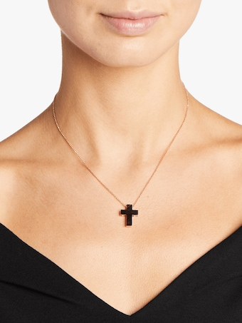 Pois Moi Cross Pendant Necklace
