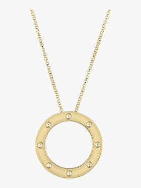 Pois Moi Circle Pendant Necklace