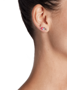 Heart With Arrow Stud Earring