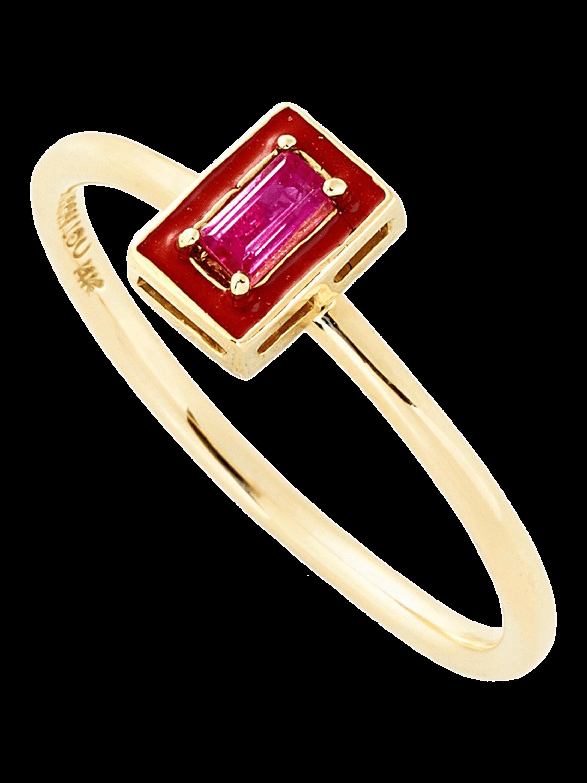 R Enamel Stack Ring