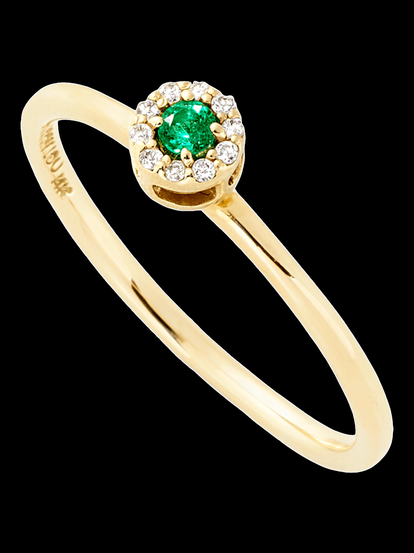 E Diamond Stack Ring