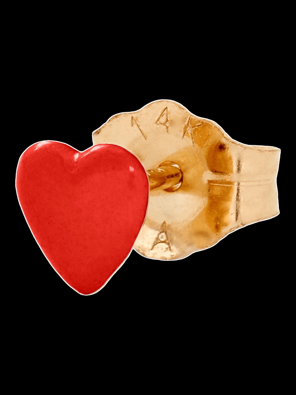 Tiny Heart Single Stud Earring