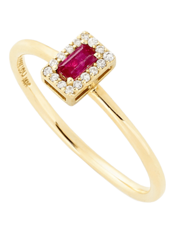 R Diamond Stack Ring