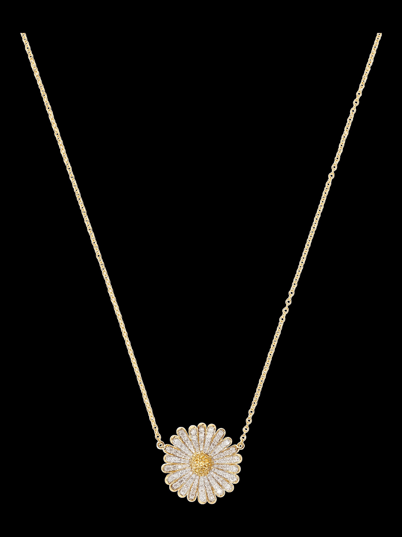 Tiny Daisy Sapphire Necklace