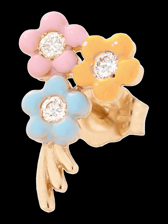 Bouquet of Flowers Single Stud Earring