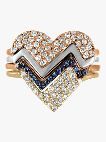 Heartthrob Four Part Diamond Ring