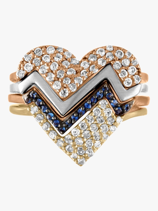kWIT Heartthrob Four Part Diamond Ring 0