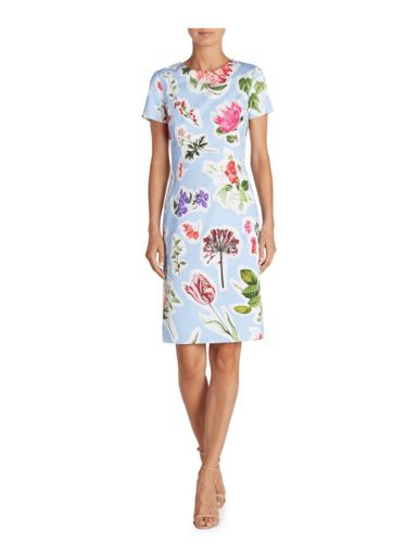 Flower Print Sheath Dress