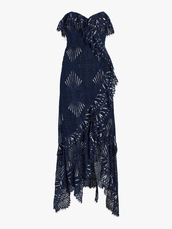 Sheer Metallic Bustier Dress