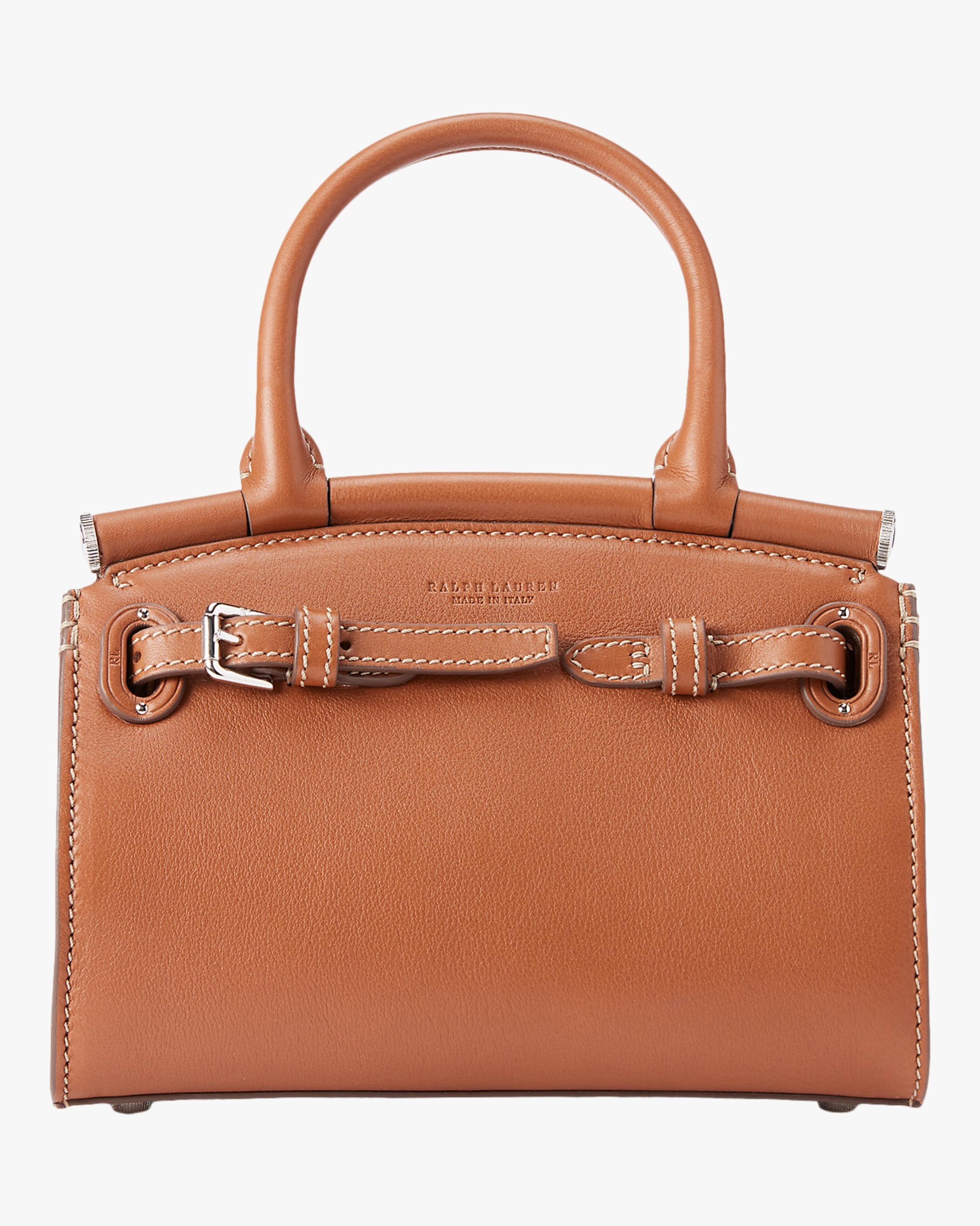 Ralph Lauren MINI RL50 LEATHER HANDBAG
