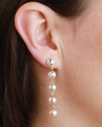 Melissa Joy Manning Five-Drop Pearl Earrings 2