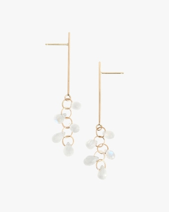 Melissa Joy Manning Moonstone Cluster Drop Earrings 1
