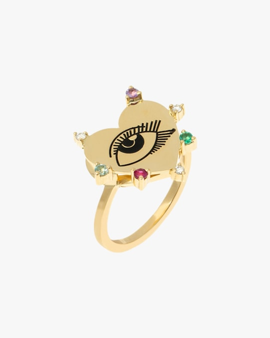 Carolina Neves Heart Eye Ring 0