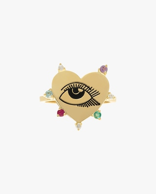 Carolina Neves Heart Eye Ring 2