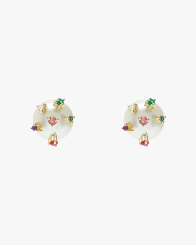 Carolina Neves Pearl Stud Earrings 1