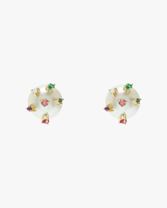 Carolina Neves Pearl Stud Earrings 0