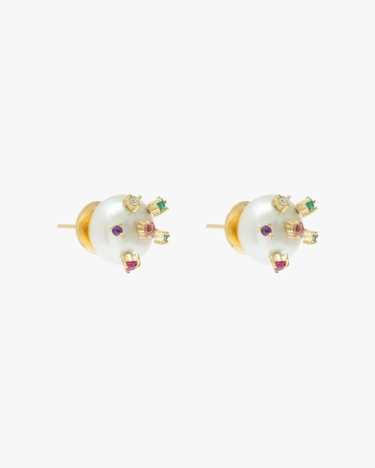 Carolina Neves Pearl Stud Earrings 1