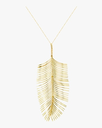 Essere Diamond Long Palm Pendant Necklace 2