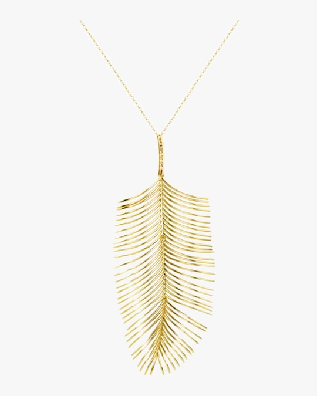 Essere Diamond Long Palm Pendant Necklace 0