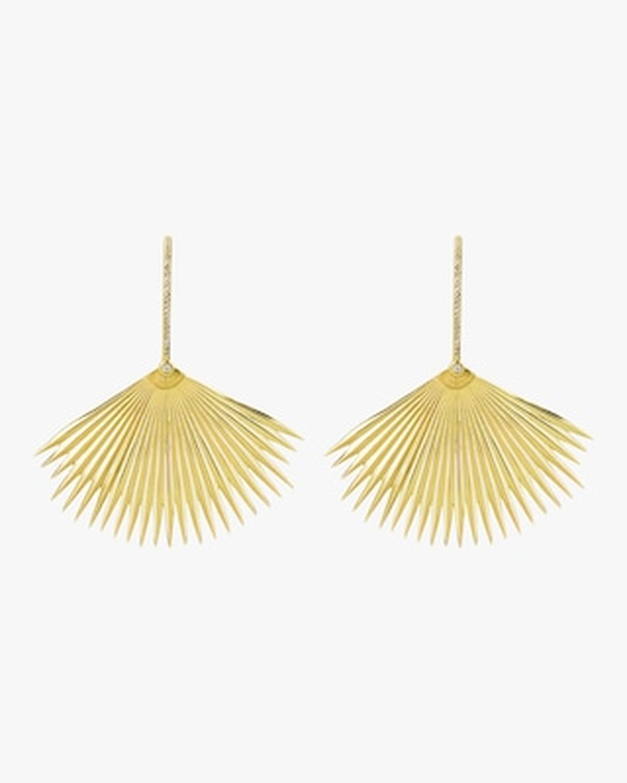 Essere Diamond Palm Drop Earrings 1