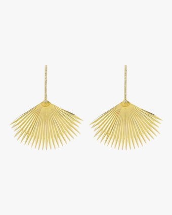 Essere Diamond Palm Drop Earrings 1
