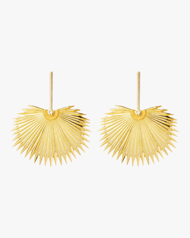 Essere Diamond Round Palm Drop Earrings 1