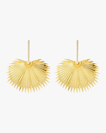 Essere Diamond Round Palm Drop Earrings 1